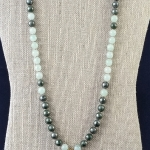 Green Pyrite & Jade Mala Set